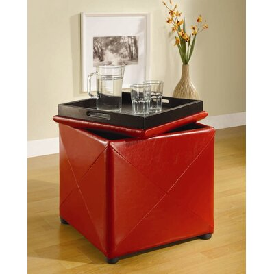 West Seattle Storage Ottoman Upholstery: Red