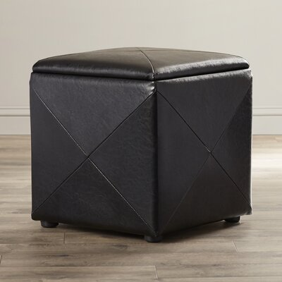West Seattle Storage Ottoman Upholstery: Black