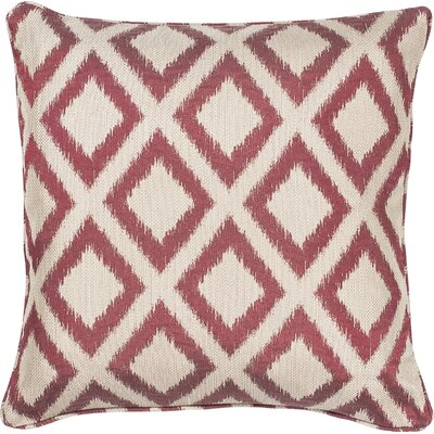 Redbud Indoor/Outdoor Throw Pillow Size: 18 H x 18 W x 0.5 D, Color: Red