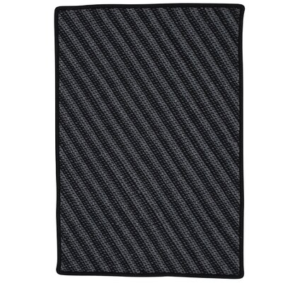 Ommegang Hand-Woven Black Area Rug Rug Size: 6 x 9