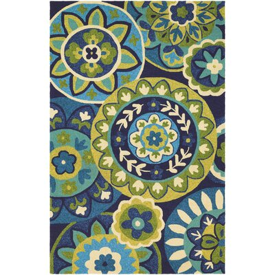Croydon Hand-Woven Ocean Indoor/Outdoor Area Rug Rug Size: Rectangle 56 x 8
