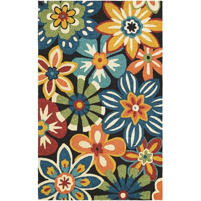 Croydon Geranium Hand-Woven Navy Indoor/Outdoor Area Rug Rug Size: Rectangle 56 x 8