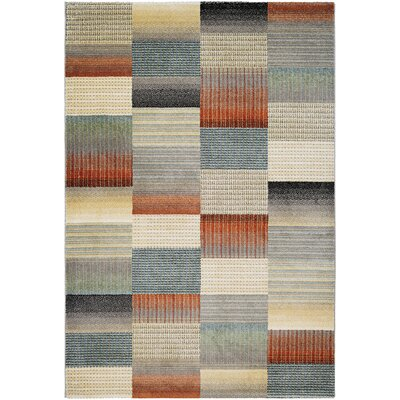 Fred Beige/Gray Area Rug Rug Size: 710 x 109