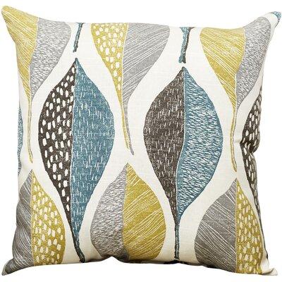Hilldale Leaf Rain 100% Cotton Throw Pillow Size: 18 H x 18 W x 5 D