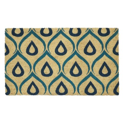 Coir Doormat Color: Blue