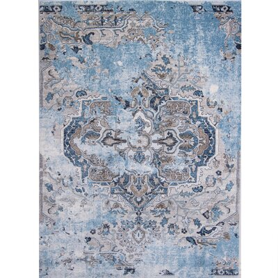 Ates Distressed Medallion Area Rug Rug Size: Rectangle 33 x 43