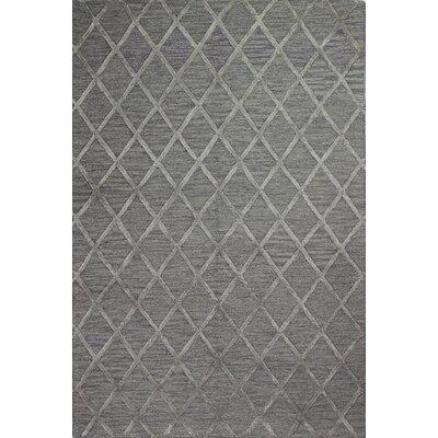 Alexander Hand-Tufted Grey/Grey Area Rug Rug Size: 36 x 56