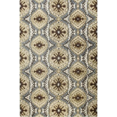 Allan Hand-Tufted Light Blue Area Rug Rug Size: Rectangle 5 x 76