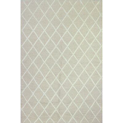 Alexander Hand-Tufted Ivory Area Rug Rug Size: Rectangle 76 x 96