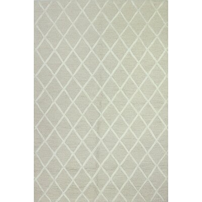 Alexander Hand-Tufted Ivory Area Rug Rug Size: 86 x 116