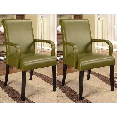 Byrne Arm Chair Color: Green
