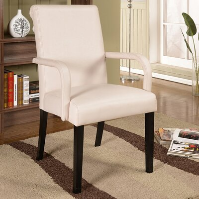 Byrne Arm Chair Color: White