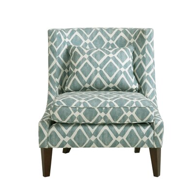 Ameche Swoop Slipper Chair Upholstery: Light Blue
