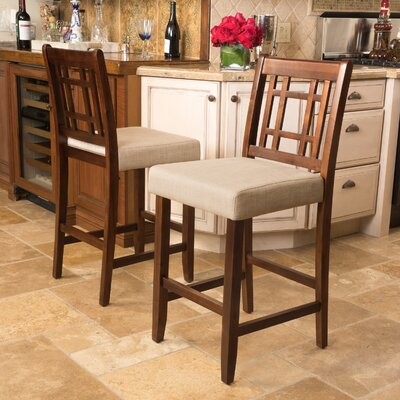 Little Toad Creek 26 Bar Stool Upholstery: Grey Taupe