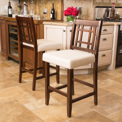 Little Toad Creek 26 Bar Stool Upholstery: Beige