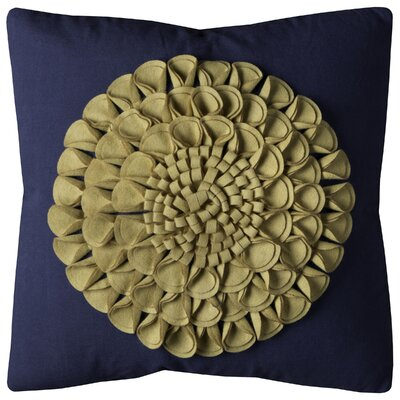 Burrows Throw Pillow Color: Navy/Cream