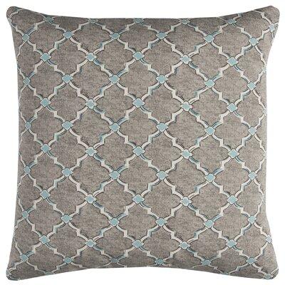 Burnley Indoor/Outdoor Throw Pillow Color: Gray/White