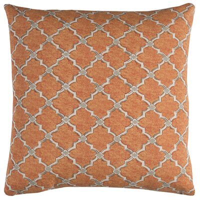Burnley Indoor/Outdoor Throw Pillow Color: Orange/White