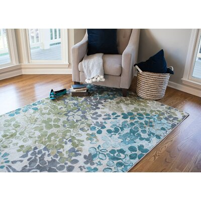 Red Barrel Studio Adams Aqua Area Rug