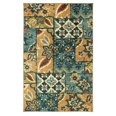 Coast Blue Indoor Area Rug Rug Size: Rectangle 76 x 10
