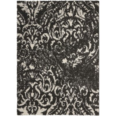 Puyallup River Black/White Area Rug Rug Size: Rectangle 5 x 7