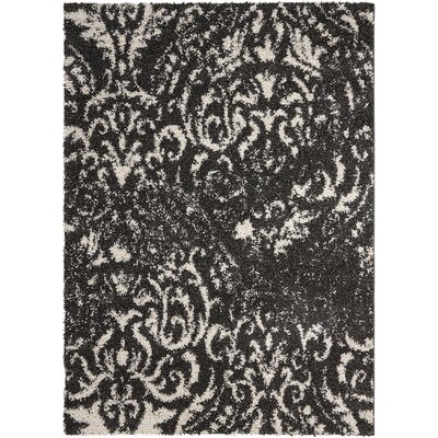 Puyallup River Black/White Area Rug Rug Size: 5 x 7