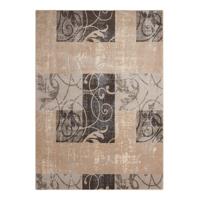 Aberdeen Beige/Gray Area Rug Rug Size: Rectangle 93 x 129