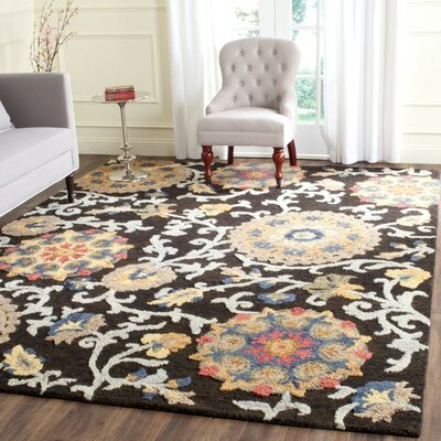Mudoch Hand-Tufted Wool Charcoal Area Rug Rug Size: Runner 23 x 6