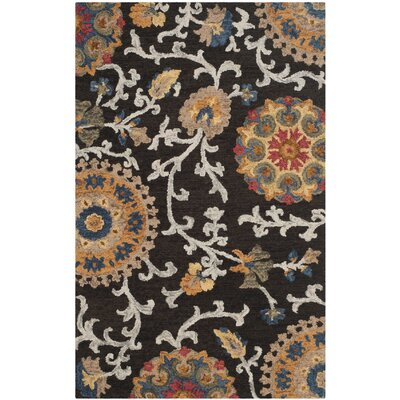 Abrahamic Hand-Tufted Area Rug Rug Size: 5 x 8