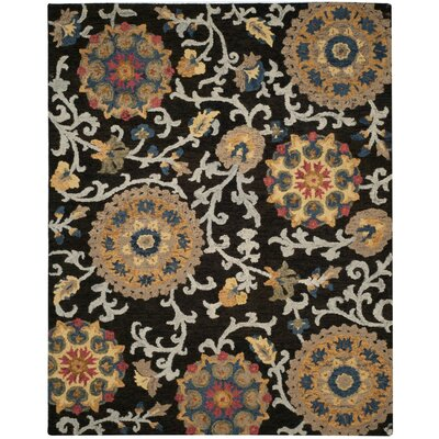 Mudoch Hand-Tufted Wool Charcoal Area Rug Rug Size: Rectangle 8 x 10