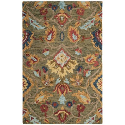 Abrahamic Hand-Tufted Area Rug Rug Size: Rectangle 4' x 6'