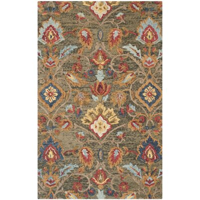 Abrahamic Hand-Tufted Area Rug Rug Size: Rectangle 5' x 8'
