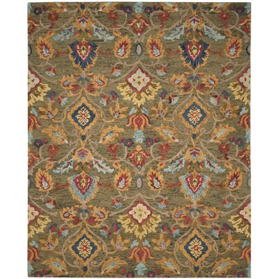 Elford Hand-Tufted Wool Green Area Rug Rug Size: Rectangle 8 x 10