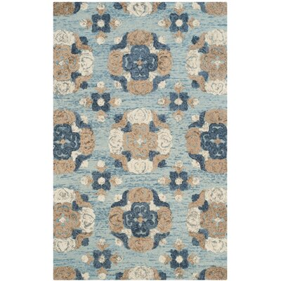 Kilbourne Hand-Tufted Wool Blue/Brown Area Rug Rug Size: Rectangle 4 x 6