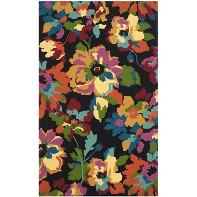 Adam Hand-Hooked Indoor/Outdoor Area Rug Rug Size: 36 x 56