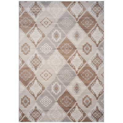 Abrahamic Cream / Camel Area Rug Rug Size: Rectangle 4 x 57
