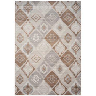 Abrahamic Cream / Camel Area Rug Rug Size: 51 x 77