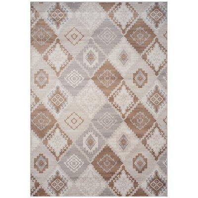 Abrahamic Cream / Camel Area Rug Rug Size: 8 x 11