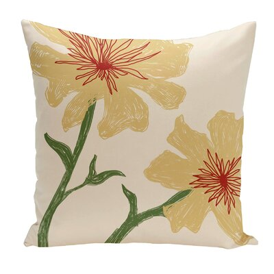 Broad Brook Outdoor Throw Pillow Color: Yellow