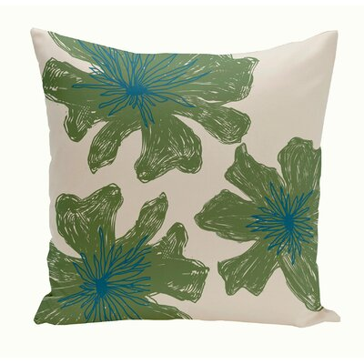 Broad Brook Outdoor Throw Pillow Color: Ivory/Blue