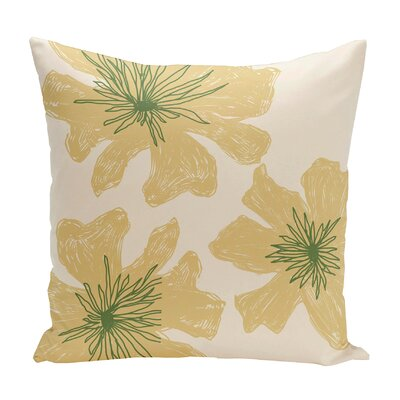 Broad Brook Outdoor Throw Pillow Color: Ivory/Yellow