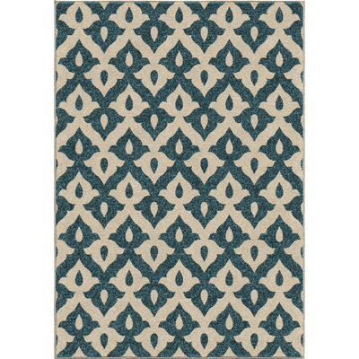 America Blue Area Rug Rug Size: 52 x 76