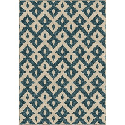 America Blue Area Rug Rug Size: 78 x 1010