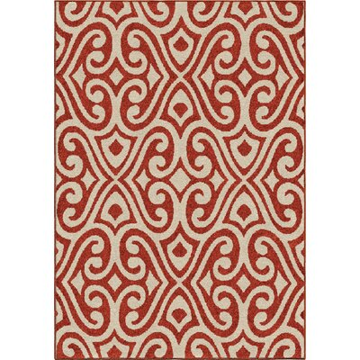 America Red Area Rug Rug Size: 78 x 1010