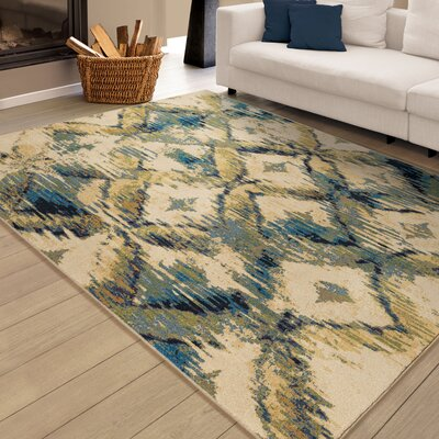 Ames Ivory Area Rug Rug Size: 53 x 76