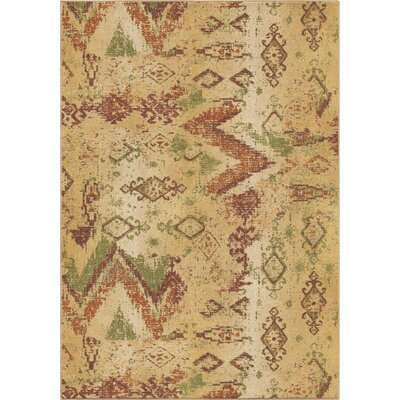 Ames Beige Area Rug Rug Size: 53 x 76