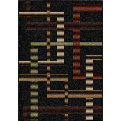 Anaya Black Indoor/Outdoor Area Rug Rug Size: 52 x 76