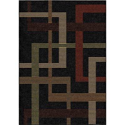 Anaya Black Indoor/Outdoor Area Rug Rug Size: 78 x 1010