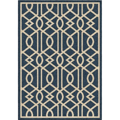 Anaya Blue/Ivory Indoor/Outdoor Area Rug Rug Size: 78 x 1010