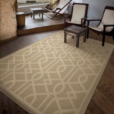 Anaya Beige Indoor/Outdoor Area Rug Rug Size: 52 x 76